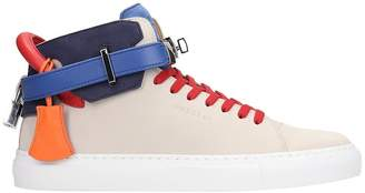 Buscemi 100mm Sneakers In Grey Leather