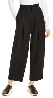 Vince Pleat Front Crop Pants