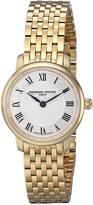 Frederique Constant Women's FC200MCS5B Ultra Slim Analog Display Swiss Quartz Gold Watch