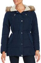 Nautica Faux Fur Hood Puffer Jacket