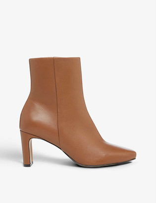 Dune Outshine leather ankle boots