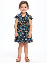 Old Navy Floral-Print Shirt Dress for Toddler Girls