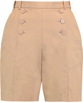 Carven Buttoned Cotton-Twill Shorts