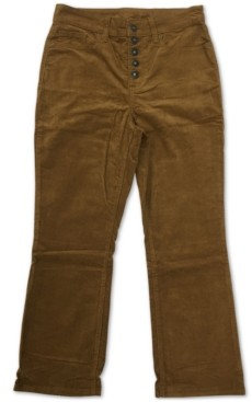 Style&Co. Style & Co Plus Size Button Down Corduroy Pants, Created for Macy's