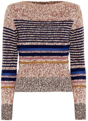 See by Chloe Striped cotton-blend sweater
