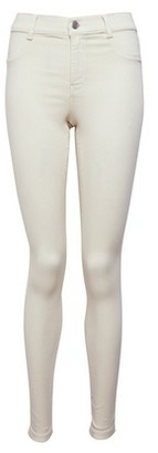 Dorothy Perkins Womens Cream Frankie Denim Jeans, Cream