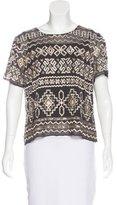 Needle & Thread Embellished Short Sleeve Top