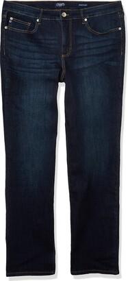 CHAPS Jeans Women's Mid Rise Straight Leg Full Length Jean
