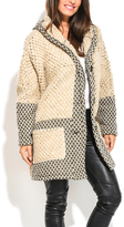 Everest Beige Wool-Blend Swing Coat - Plus Too