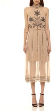 Colcci Hand Embroided Midi Dress