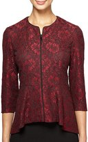 Alex Evenings 3/4 Sleeve Lace Hi-Low Peplum Jacket