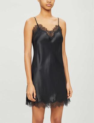 Scarlett leopard-print silk satin night dress