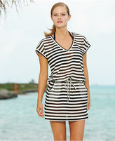 Calvin Klein Striped Tunic Cover Up