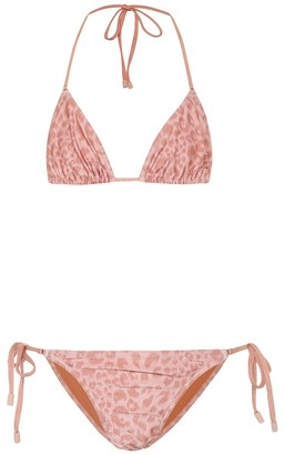 Zimmermann Exclusive to Mytheresa Mini leopard-print bikini