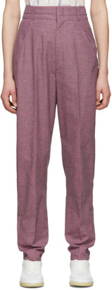 Etoile Isabel Marant Purple and Black Linen Loulia Trousers