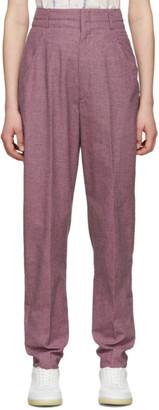 Etoile Isabel Marant Purple and Black Linen Loulia Trousers