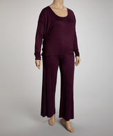 Canari Eggplant Elegance Top & Pants - Plus
