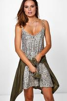 Boohoo Maisy Printed Strappy Swing Dress