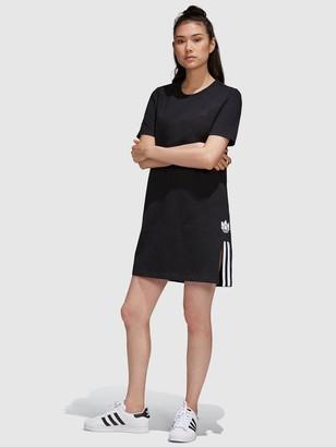 adidas Adicolour 3D Trefoil Tee Dress - Black White