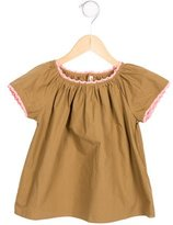 Bonpoint Girls' Lace-Trimmed Gathered Top