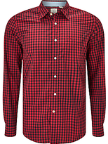 Dockers Laundered Gingham Shirt, Beckham Rio Red