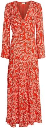 Rixo Sonja Floral Midi Dress