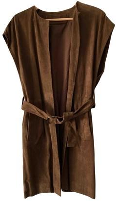 Madame à Paris Camel Suede Coat for Women