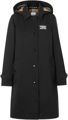 Burberry Oxclose Logo Patch Trench Coat