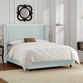 Skyline Furniture Wingback Bed in Velvet Pool - Full