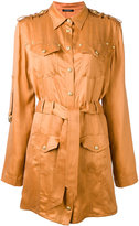 Balmain silky shirt dress - women - Cupro - 40