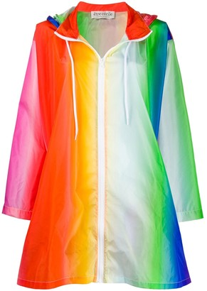 Être Cécile hooded Rainbow parka