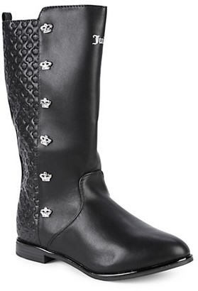 Juicy Couture Girl's Crown-Detailed Boots