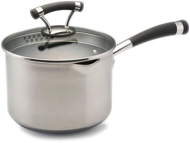 Circulon 3-qt. nonstick covered straining saucepan