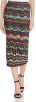 M Missoni Relief Ripple Midi Skirt