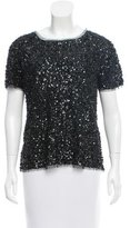 Gryphon Short Sleeve Sequin Top