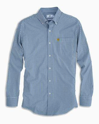 Southern Tide Notre Dame Fighting Irish Clover Gingham Button Down Shirt