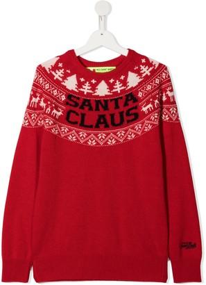 Mc2 Saint Barth Kids Santa Claus knit jumper