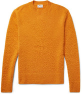 Acne Studios Peele Slim-fit Nep Wool And Cashmere-blend Sweater - Orange
