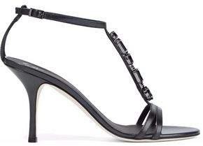Giuseppe Zanotti Taz Crystal-Embellished Leather Sandals