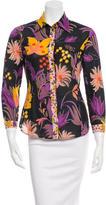 M Missoni Floral Button-Up Top