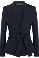 Donna Karan Belted Crepe Jacket - Navy