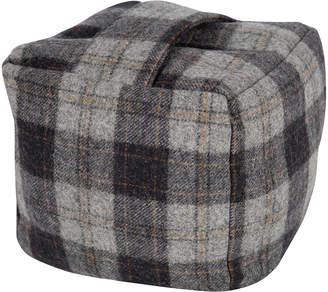 URBAN RESEARCH Tweedmill - Tweed Cube Door Stop - Navy/Silver Check