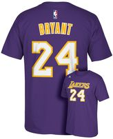 adidas Men's Los Angeles Lakers Kobe Bryant Player Name and Number Tee