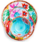 Sur La Table Tropical 12-Piece Melamine Dinnerware Set with 4 Bonus Appetizer Plates