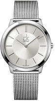 Calvin Klein Mens Swiss Large Minimal Stainless Steel Bracelet Watch