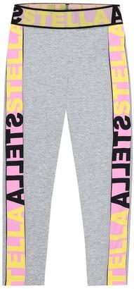 Stella Mccartney Kids Logo stretch-jersey leggings