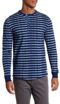 Heritage Long Sleeve Stripe Henley Slim Fit Tee