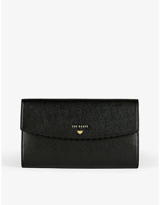 Ted Baker Logo-embossed leather travel wallet