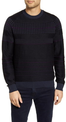 BOSS Arkamoro Stripe Cotton Blend Crewneck Sweater