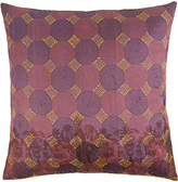 Found Object Hand-Stitched Kantha and Stripe Pillow